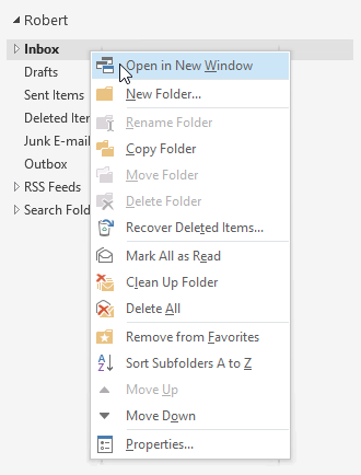 Open in New Window command for a folder