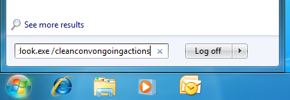 Reset all conversation actions by starting Outlook with the /cleanconvongoingactions switch