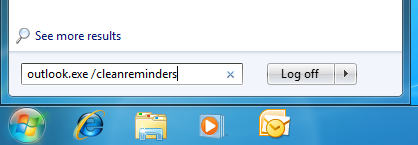 Reset the reminder service by starting Outlook with the /cleanreminders switch.
