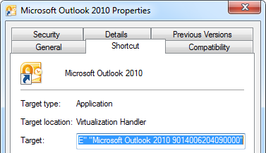 command to run outlook in safe mode