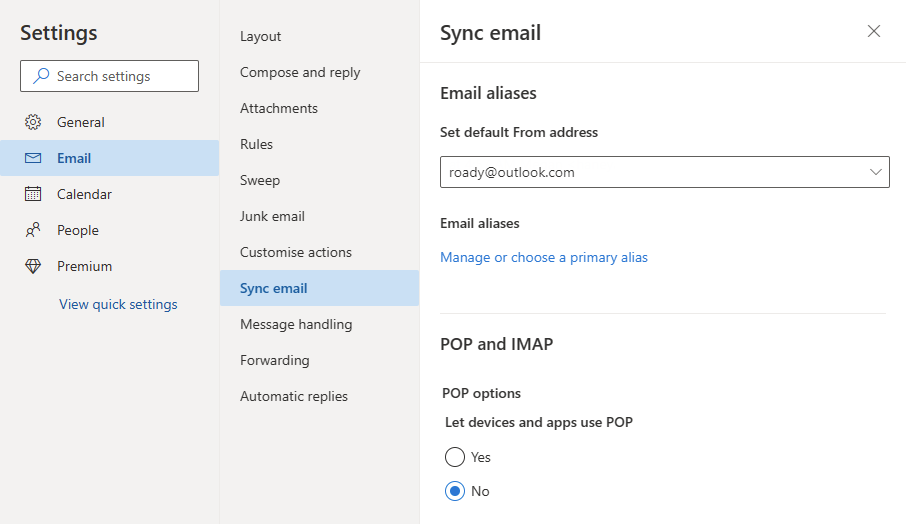 how to change default sending email address in outlook 2013