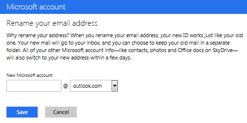 Renaming your existing Hotmail account to Outlook.com is not to be taken lightly.