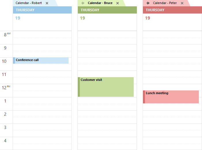 Overlay Mode - Multiple Calendars - Not combined (click on image to enlarge)