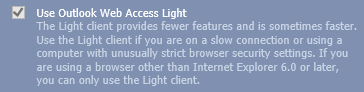 OWA light is your only choice for OWA 2007 in IE11, or not…? (click on image to see the full logon dialog)
