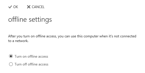 You can configure OWA 2013 for offline access via the Offline Settings pane.