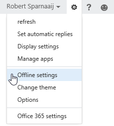 OWA 2013 - Office 365 - Exchange Online - Offline settings