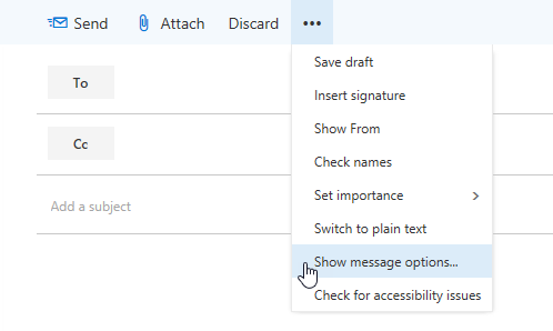 How to add read receipt in hotmail