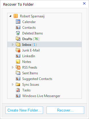 Recovering Deleted Items is much more convenient in OWA than in Outlook. Outlook, are you paying attention?