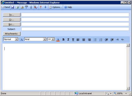 OWA 2003 Compose Message