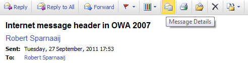 Message Details icon in OWA 2007.