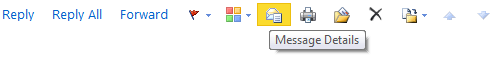 Message Details icon in OWA 2010.