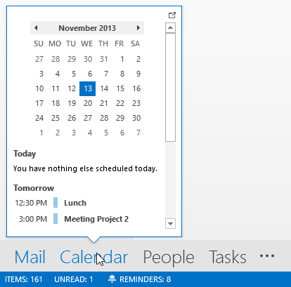 The Peek is a less intrusive implementation of the To-Do Bar.