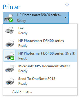 "Add your printer twice in Windows to create a special ""Draft"" printer to save ink when printing emails."