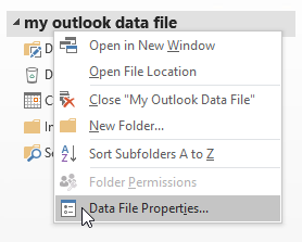 Reminders support for folders in archives and additional pst-files