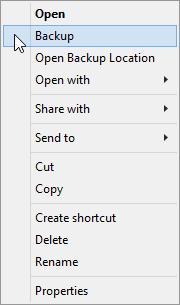 Instantly backup pst-files via a right-click option - MSOutlook info