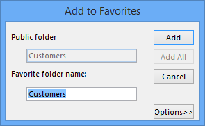 Public Folders - Add to Favorites