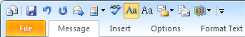 Quick Access Toolbar - Compose Message - Outlook 2010