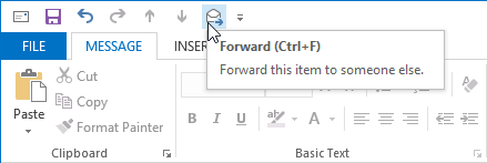 Forwarding an attached draft message will create a sendable copy.
