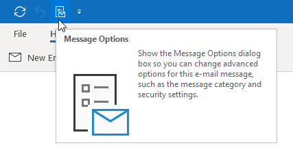 Message Options on the Quick Access Toolbar in Outlook