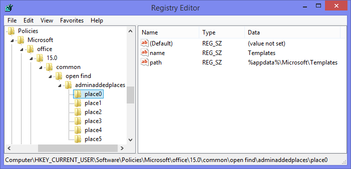 Adding custom places via the Registry. (click on image to enlarge)