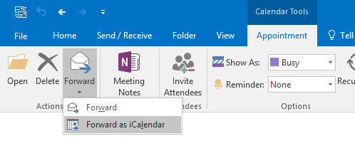 Quickly create an ics-file for any Calendar item by using the Forward as iCalendar command.