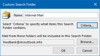 Search Folder - Internal Mail