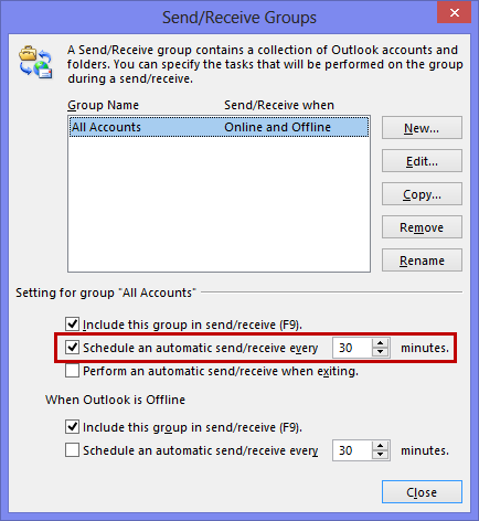 In Outlook 2010, Outlook Hotmail Connector account respect your send/receive interval settings.