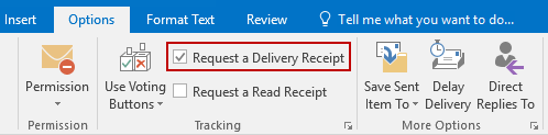 Not receiving Delivery Receipts MSOutlookinfo – Receiving Receipt