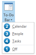 Changing the sort order of the To-Do Bar elements.