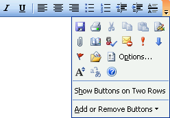 Toolbar commands overflowing with editing mode closed.