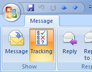 Message tracking Outlook 2007