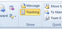 Message tracking Outlook 2010