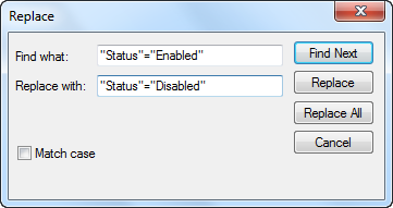Disable all language pairs via the Replace feature in Notepad.