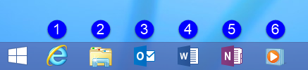 Pressing the Windows logo key + 3 on the keyboard will launch Outlook. Don't count the Start Menu button.