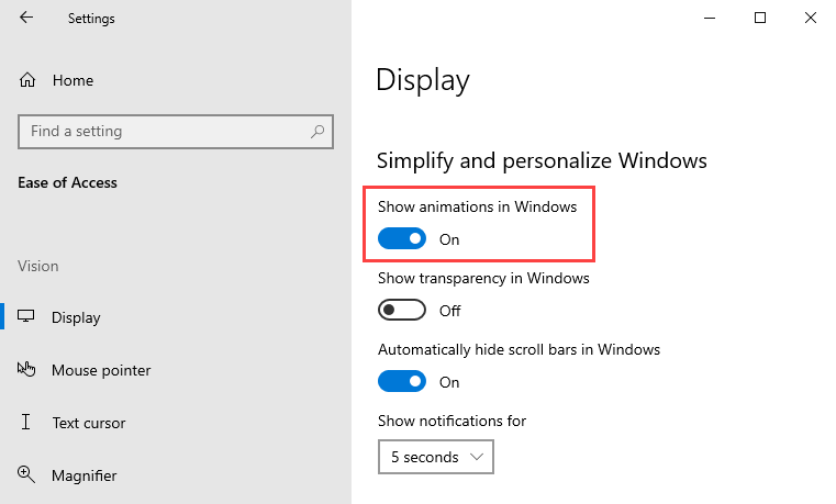 Whether or not GIFs animate in Outlook can be controlled within Windows Settings.