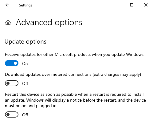 Enable Microsoft Update in Windows 10 to get Office updates too.