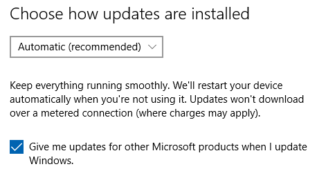 Configure Windows Update to also check for updates for other Microsoft Products like Microsoft Office.