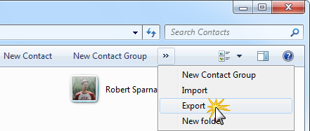 Windows Contacts Export Wizard