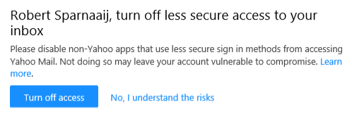 Yahoo Mail - Turn off less secure access to your inbox
